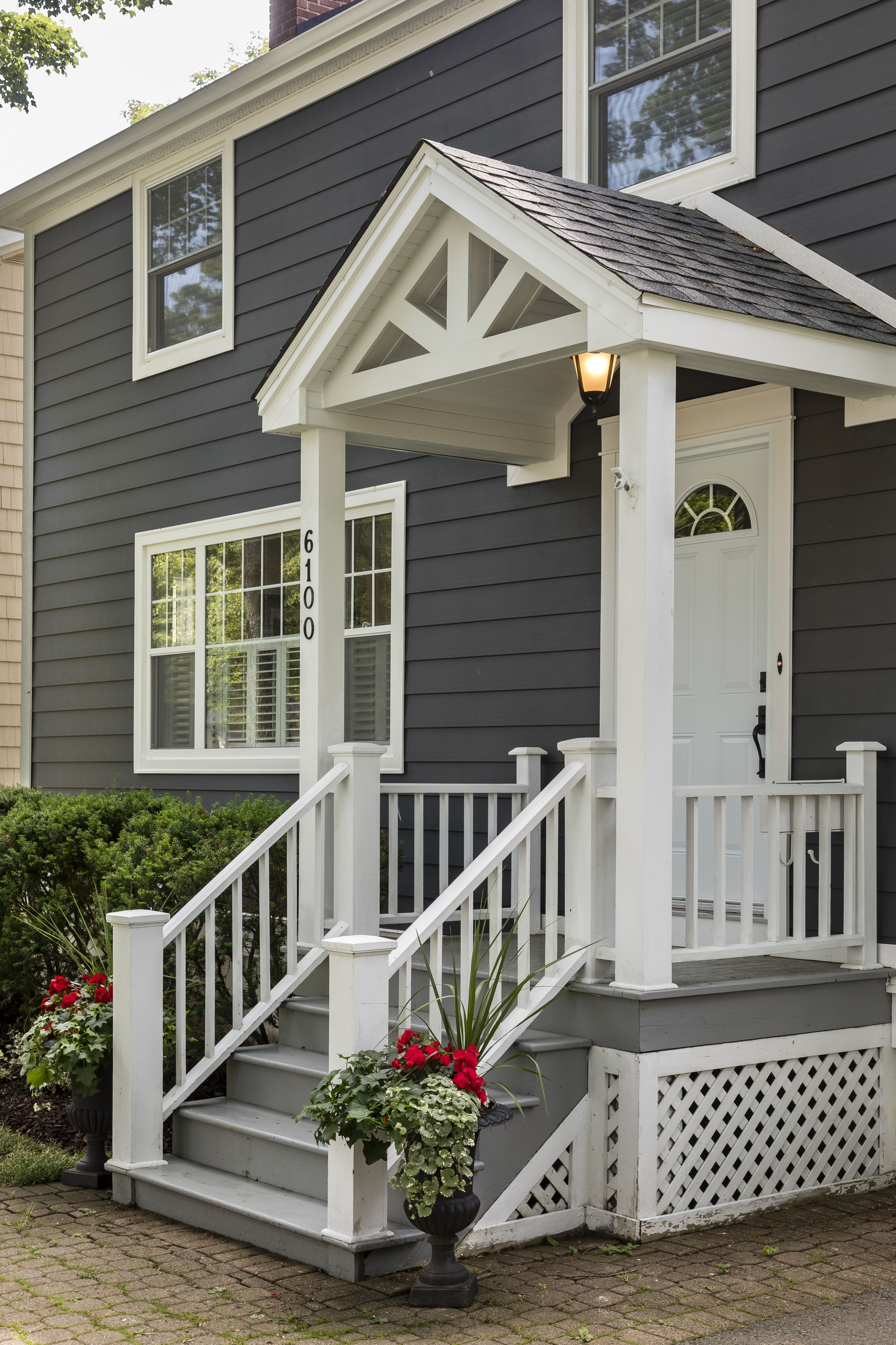 Celect 7 Clapboard Siding In Wrought Iron House Exterior Clapboard Siding House Deck