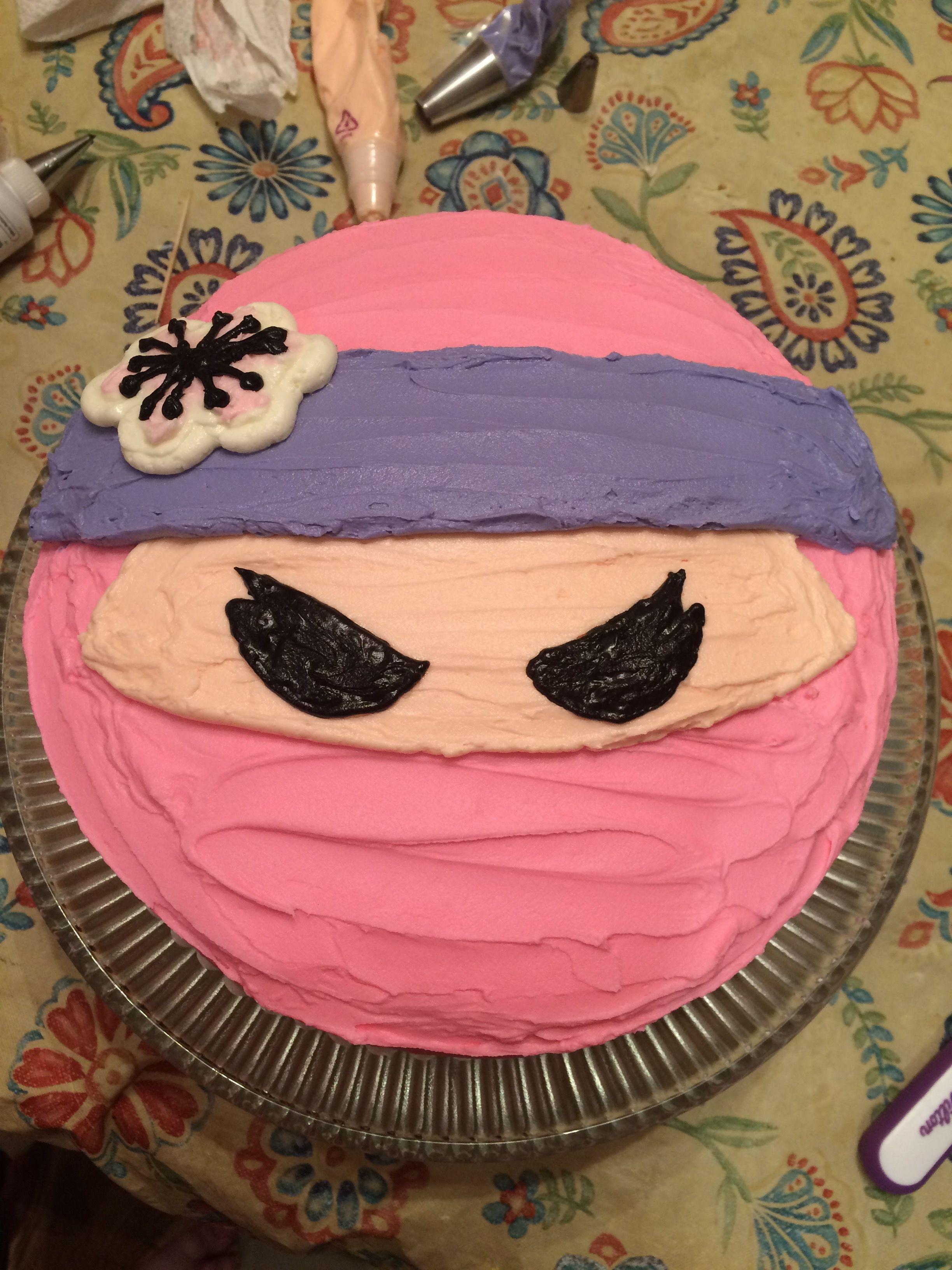 Pink Ninja Girl Cake Birthday Karate Parties