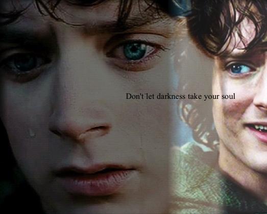 Frodo Baggins . Aww poor Frodo... Please don't cry...