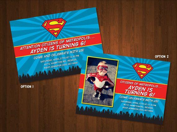 Superman Birthday Party Invitations Birthday Party – Superman Birthday Invitations