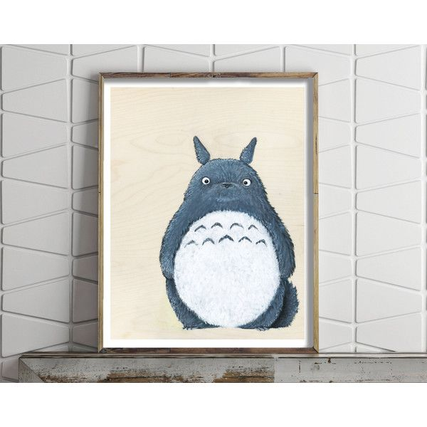 Paper Print Of Totoro From My Neighbour Totoro Studio Ghibli (212.950 IDR)  ❤ Liked