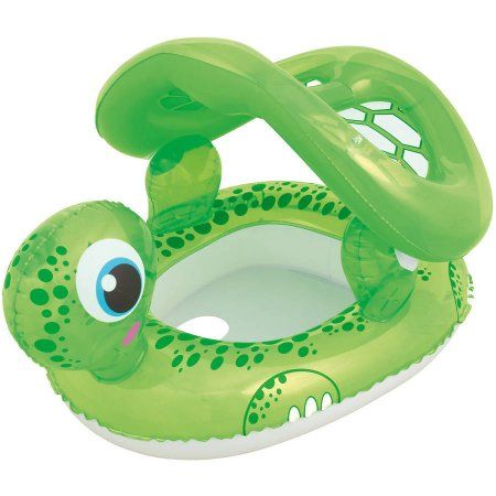 H2Ogo! 29 inch x 26 inch Floating Turtle Baby Care Seat, Green