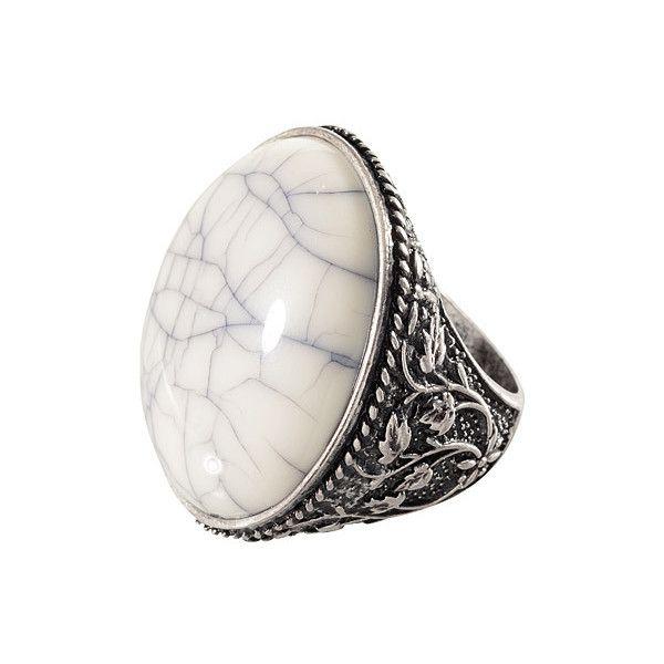 Ringen met grote stenen - Girlscene ($18) ❤ liked on Polyvore