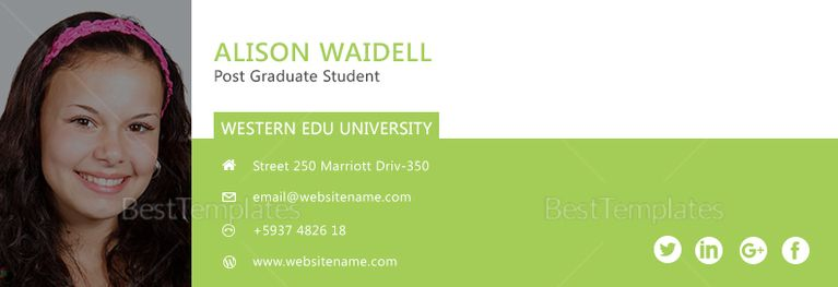 Pin On Email Signature Templates In Html Psd