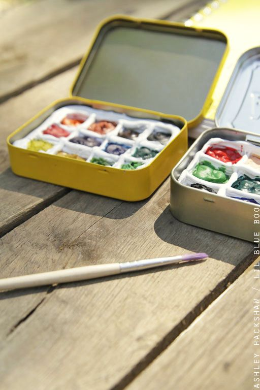 Diy Portable Watercolor Palette Diy Painting Watercolor Kit Art