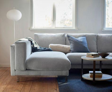 nockeby sofakombination mit bezug tallmyra schwarz wei. Black Bedroom Furniture Sets. Home Design Ideas