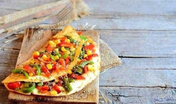 طريقة تحضير الأومليت الكريمي بالفلفل الملون Cooking Recipes Recipes Cooking