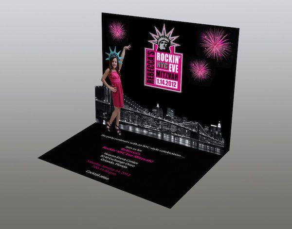 PopUp Invitations NYC New York Theme Bat Mitzvah Party Planner – New York Party Invitations