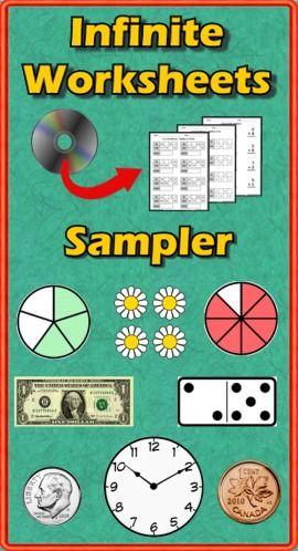 "Infinite Worksheets: Sampler"" is a free computer program (PC/Mac ..."