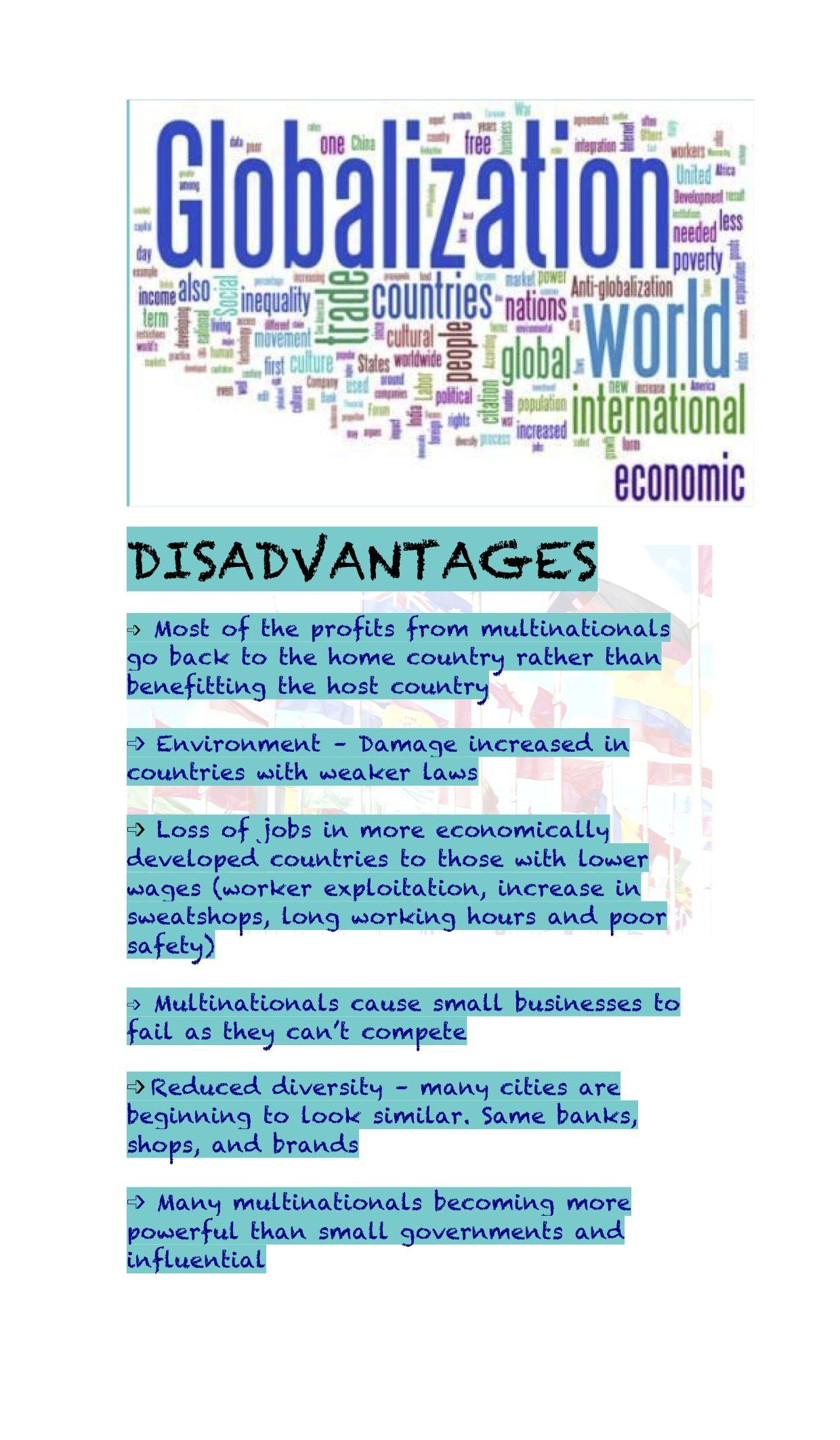 Globalisation_DisadvantagesII | Education | Pinterest | Social ...
