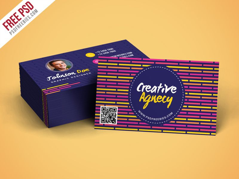Creative Agency Business Card Template Psd Pinterest Free