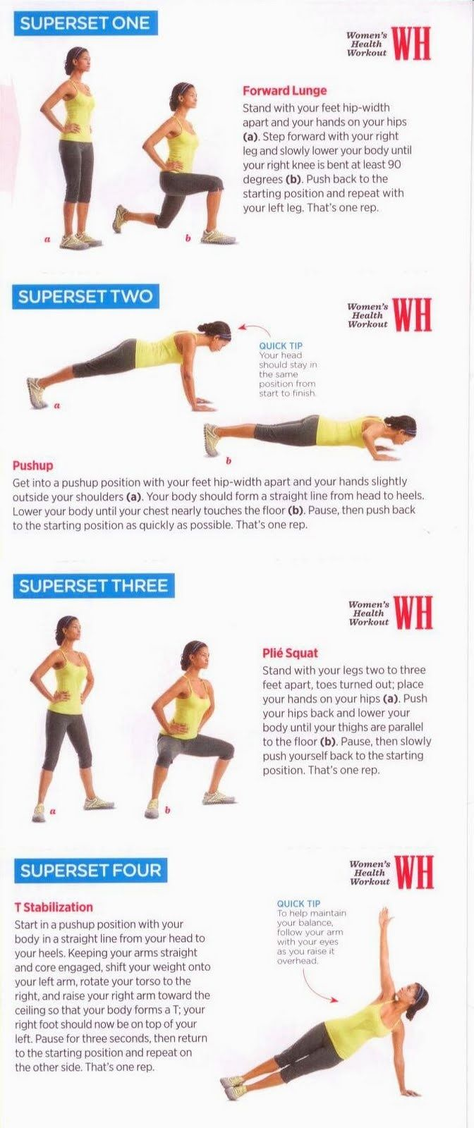 How To Get Abs Fast For Girls Workout Sheet Pinterest Superset Circuit Leg Up On Fitness Health And Training Ab Men