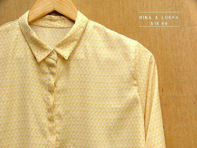 Blusa seda amarilla @ninalukka