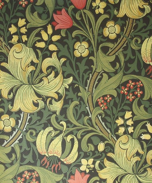 Golden Lily Wallpaper  Favorite People  Artists or both  Pinterest  William morris wallpaper