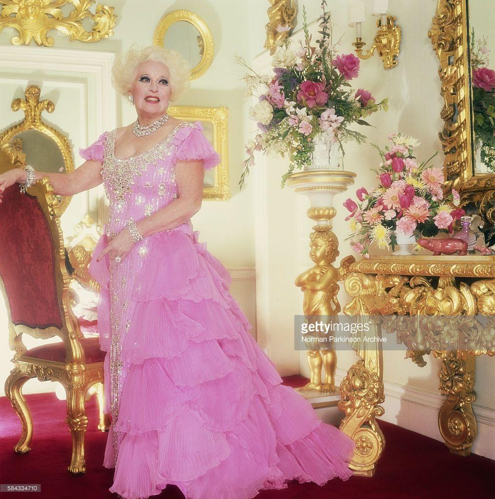 Barbara Cartland in Opulent Surroundings