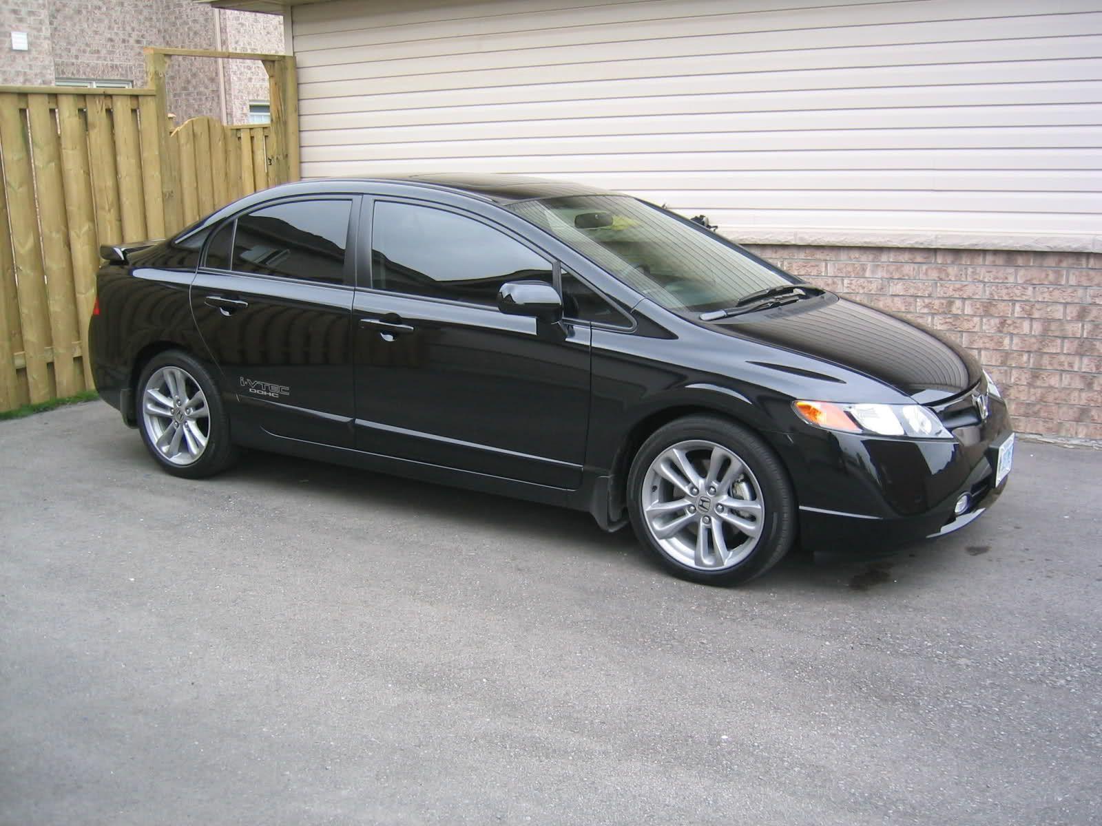 Black Honda Civic Si Sedan  Black Honda  Pinterest  Honda civic
