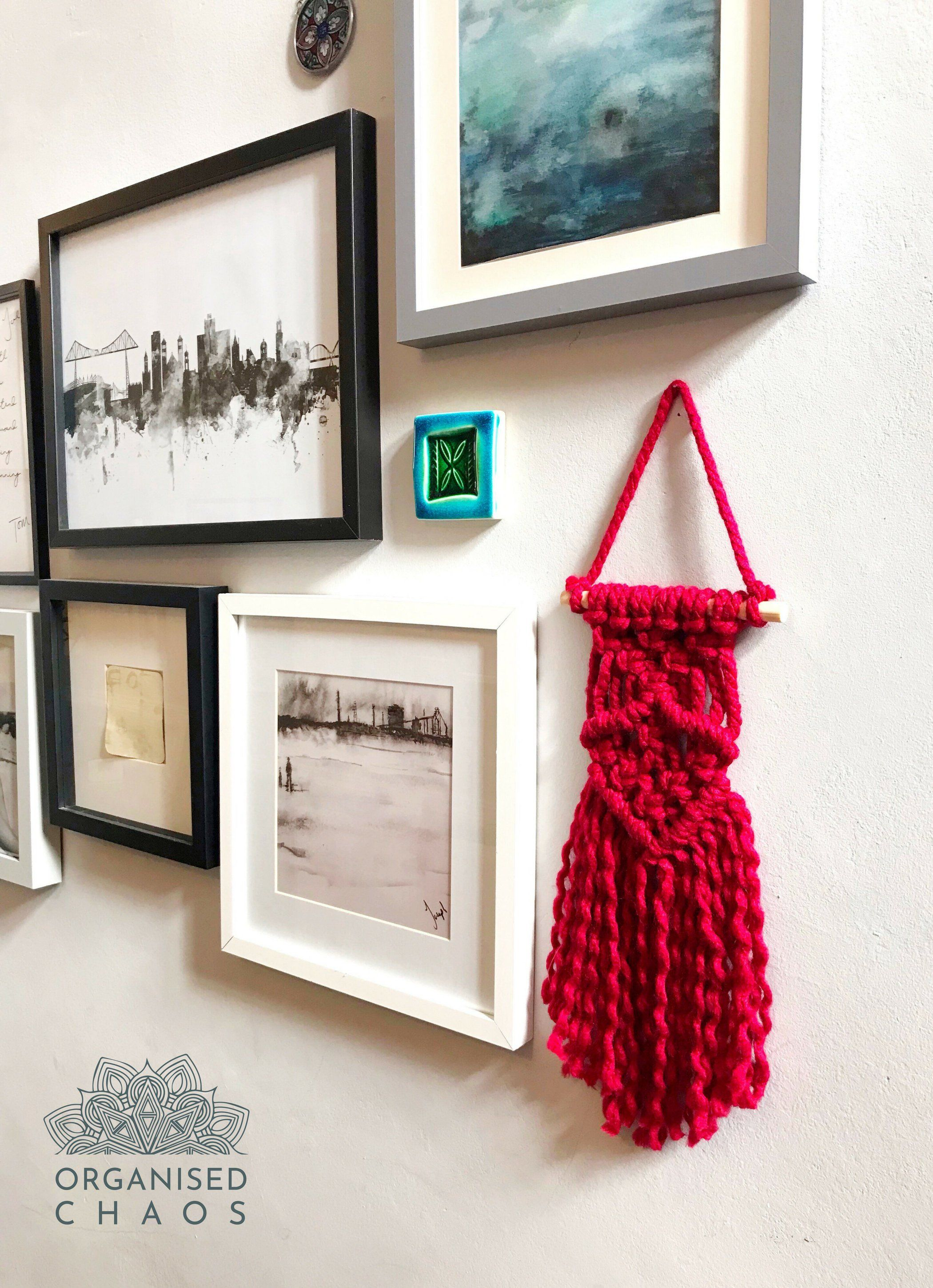 Excited To Share The Latest Addition To My Etsy Shop Mini Red Macrame Wall Hanging Https Etsy Me 2gcjm Wall Hanging Boho Wall Hanging Macrame Wall Hanging