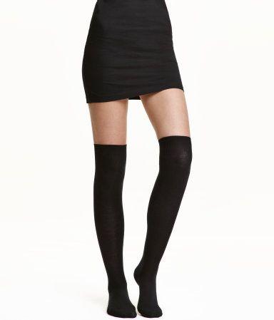am besten einkaufen neue Fotos verschiedene Stile 2-pack Over-knee Socks   Black   Women   H&M US   style ...