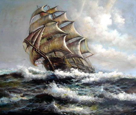Resultado de imagen de capitan de barco cuadro
