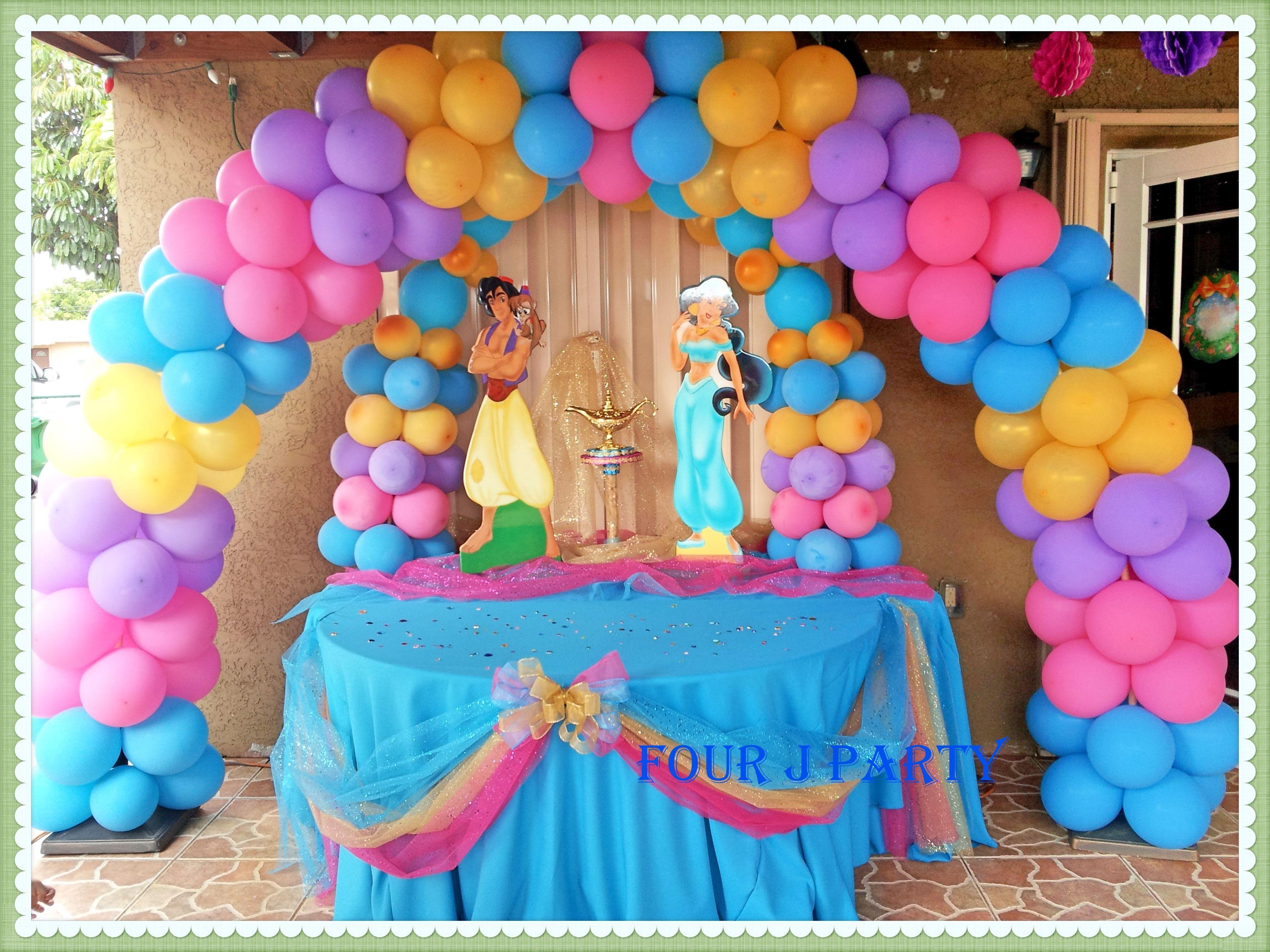 Balloon Decoration Of Jazmin Fourjparty  Fun