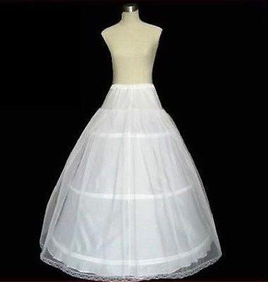 Nuevo Blanco un line/hoop/hoopless / Crinolina petticoat/underskirt Slip Vestido De Novia