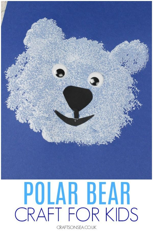 Easy Polar Bear Craft for Kids #animalcrafts