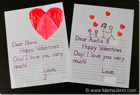 valentine letters of thanks taceable letters for little ones love this - Valentines Letters
