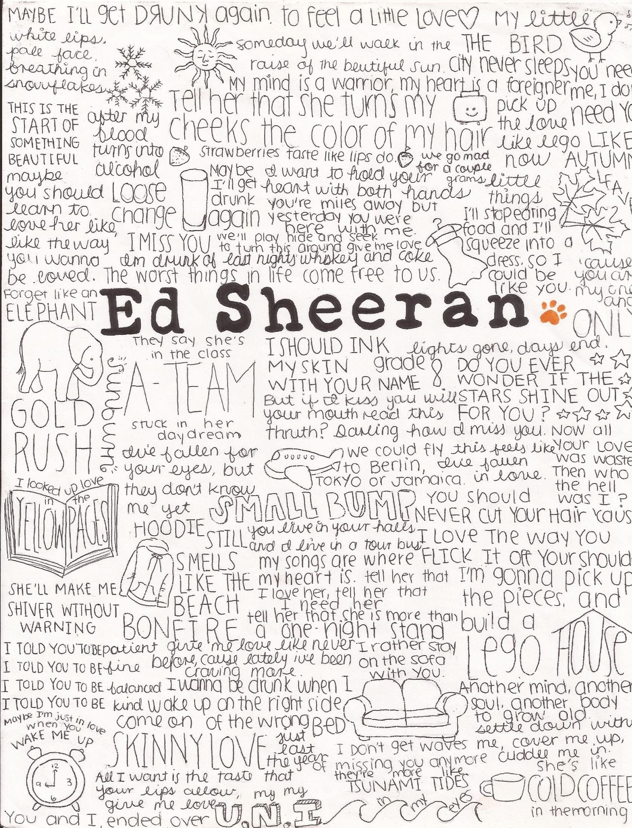 EdSheeran | Live and Let Live | Pinterest | Lyric art, Songs and ...