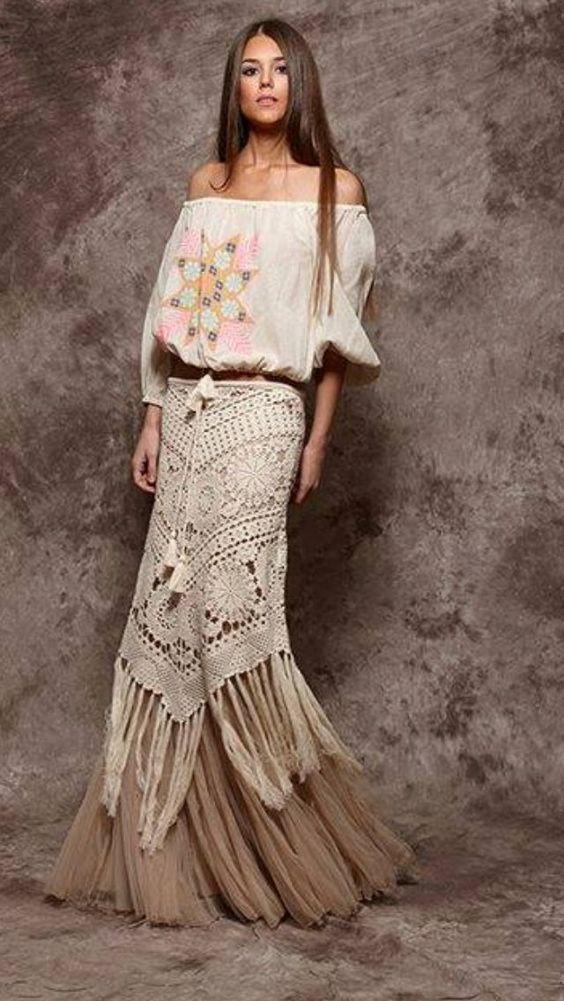 Crochet skirt amazing ideas for women (19) | Style & fashions ...