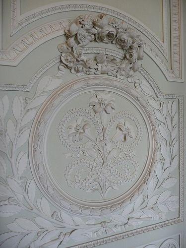 Versailles, le Petit Trianon, boiseries du salon