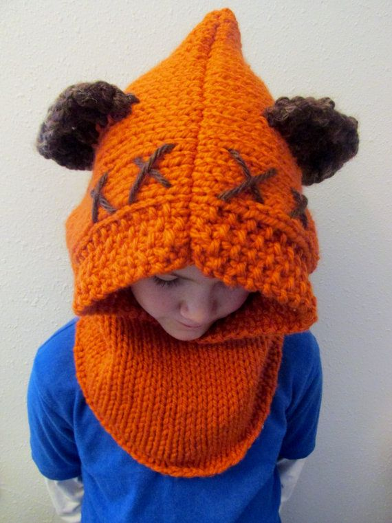 Pattern Only Furry Forest Friend Hood Star Wars Ewok Inspired Cowl