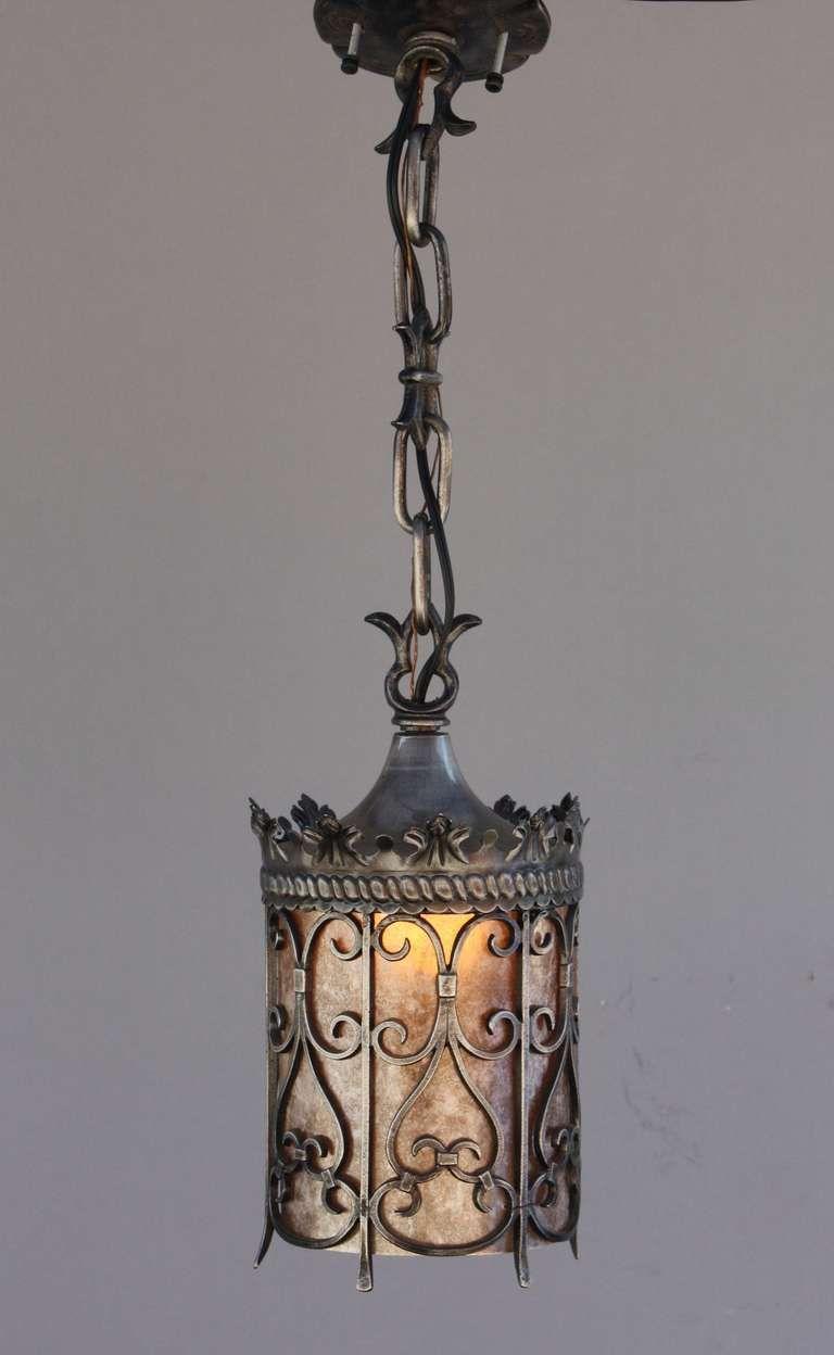 1920s Spanish Revival Pendant 1stdibs Com Iron Pendant Light