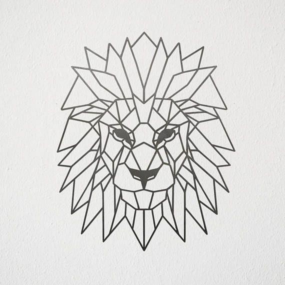 art g om trique lion en m tal tatouage pinterest abstraction g om trique lion et art. Black Bedroom Furniture Sets. Home Design Ideas
