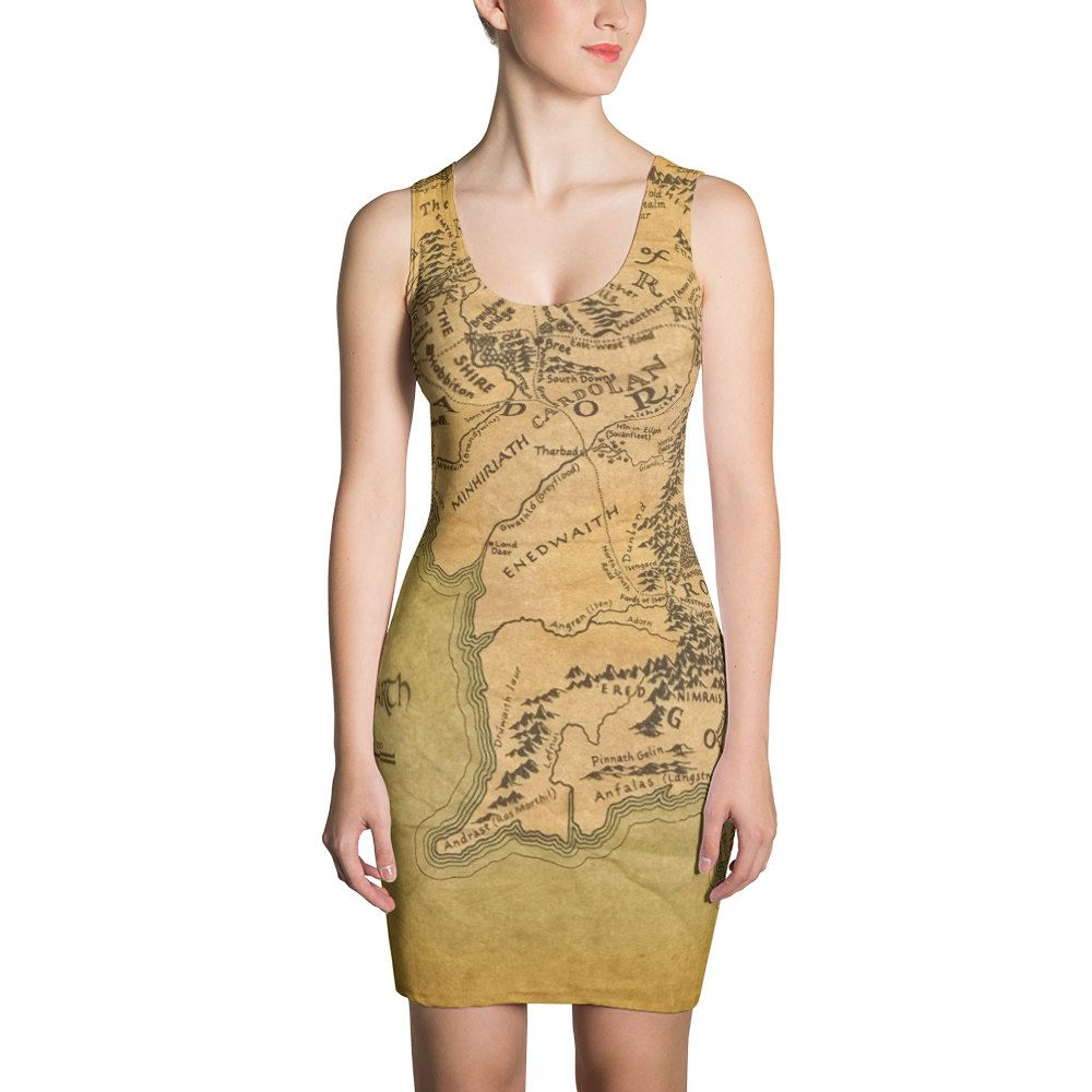middle earth map dress map costume lord of the rings dress atlas dress