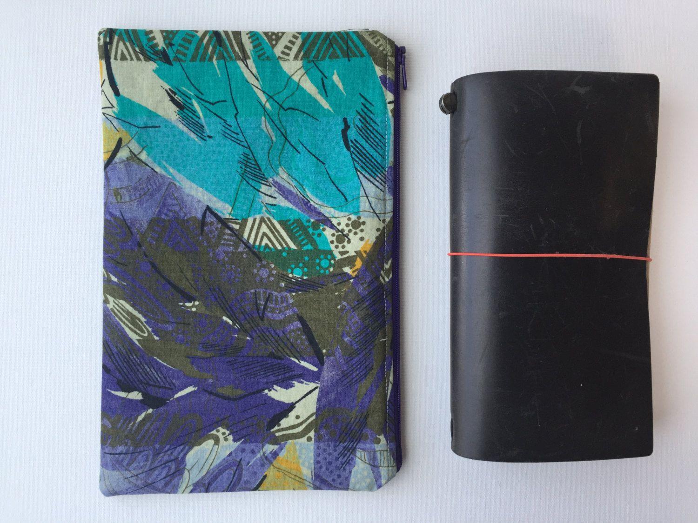 Midori Traveler's Notebook Bag Zipper by LowlandOriginals on Etsy