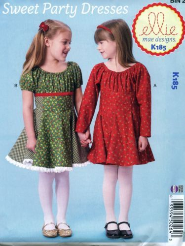 3dd17dca35e4 NEW-Uncut-Kwik-Sew-Ellie-Mae-K185-Sweet-Party-Dresses-Girl-Size-3-4 ...