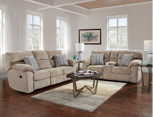 Affordable Furniture Double Reclining Sofa Love Seat Set Couch