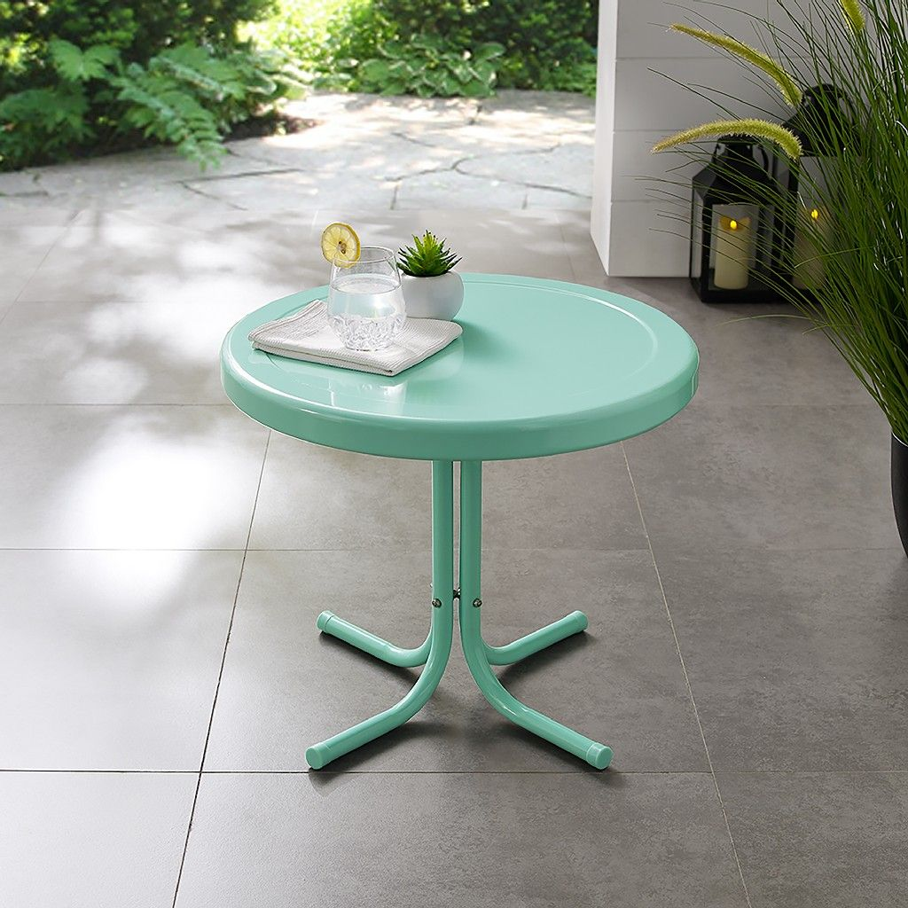 Griffith Side Table In Aqua Crosley