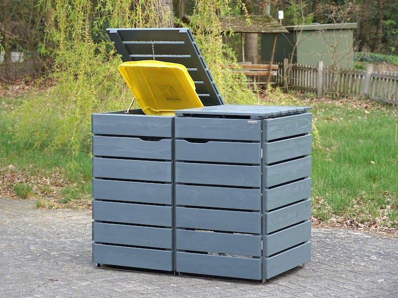 2er Mulltonnenbox Holz 240 Liter Mit Bildern Mulltonnenbox Holz Mulltonnenbox Wetterfestes Holz