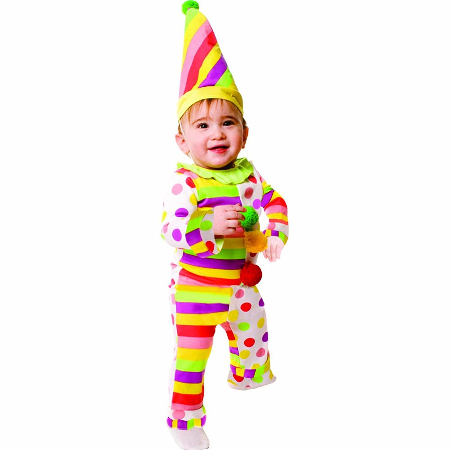 Amazon.com: Dress Up America Dots N' Stripes Infant Clown: Clothing