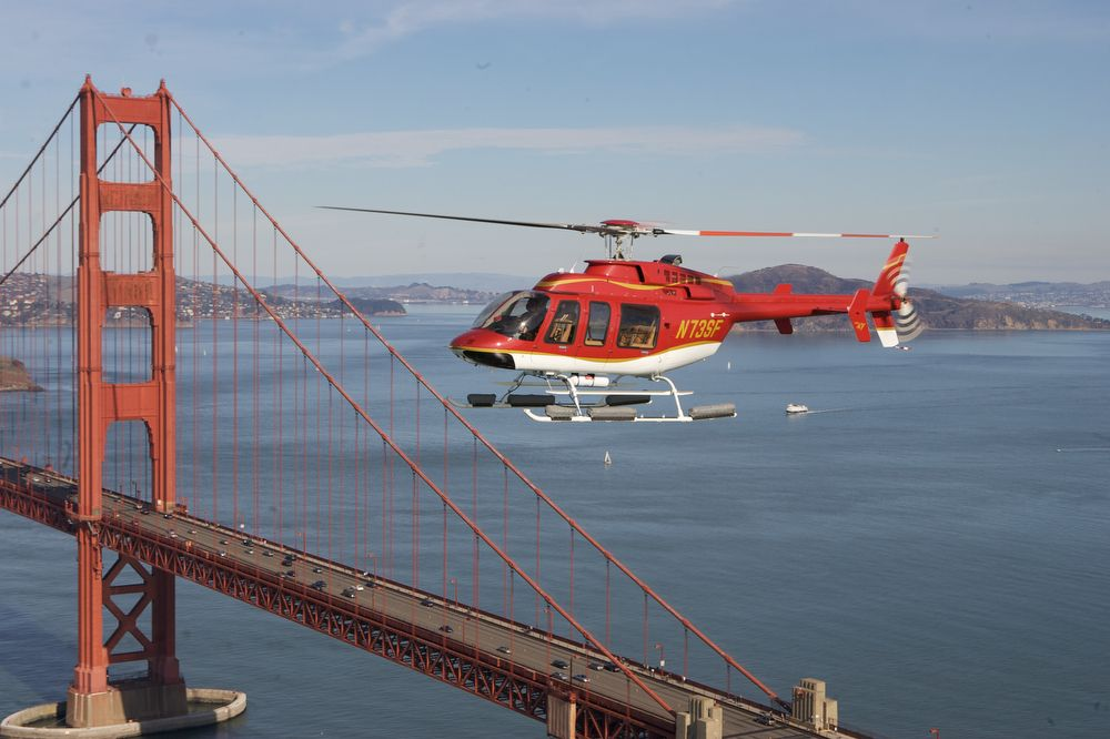 Helicopter tour over San Francisco