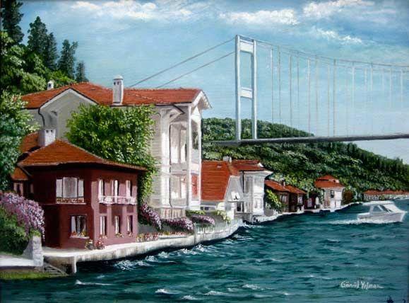 Istanbulun Tarihi Sokak Yagliboya Resimleri Google Da Ara Resim Manzara Resimler