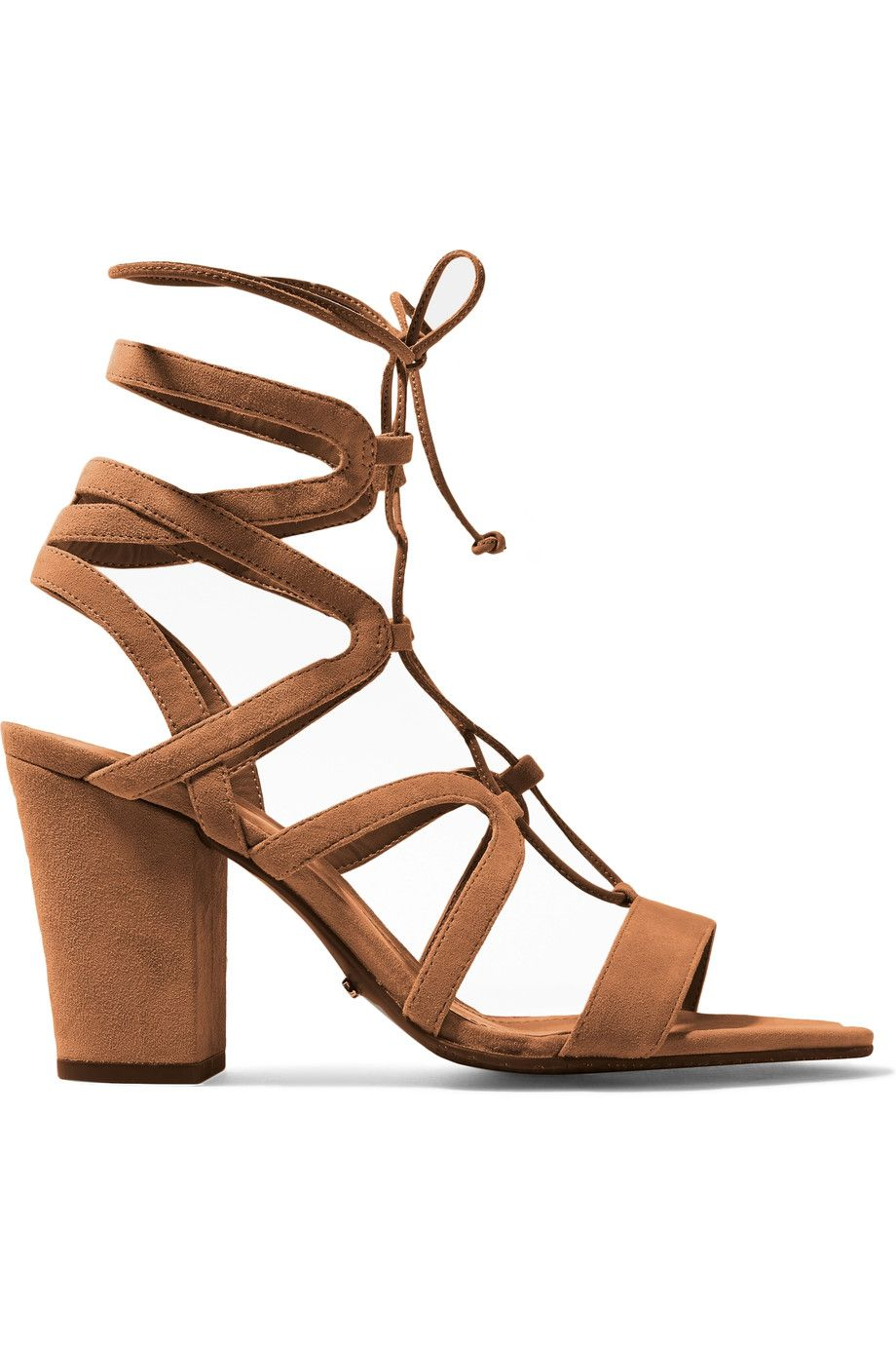 Shop on-sale SCHUTZ Iggy lace-up cutout suede sandals. Browse other  discount designer High Heel & more on The Most Fashionable Fashion Outlet,  THE OUTNET.