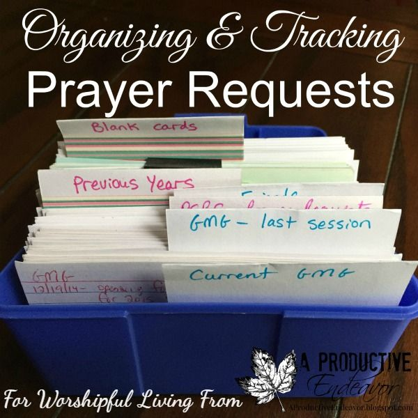 Organizing and Tracking Prayer Request | Encouragement for