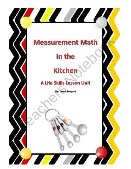 Measurement Math in the Kitchen: A Life Skills Lesson from Autism ...