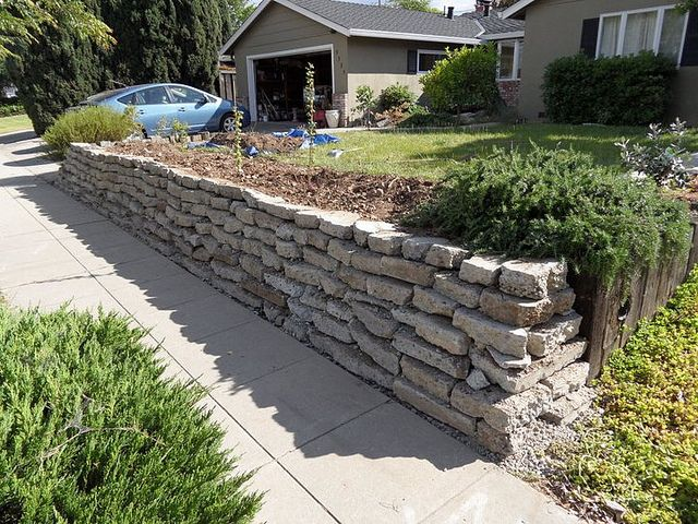 Retaining Wall With Broken Concrete Instructions Concrete Retaining Walls Broken Concrete Recycled Concrete