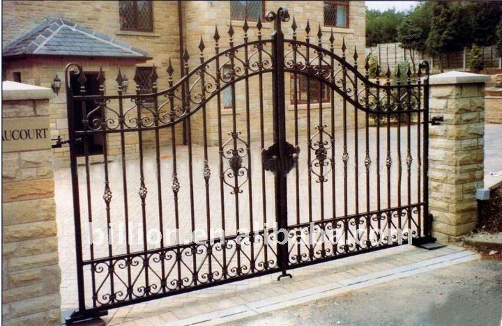 Decorativos de hierro forjado puerta precios para jard n buy product on portones - Puertas de hierro para jardin ...