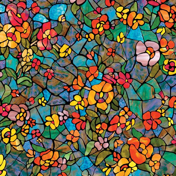 Venetian Garden Self Adhesive Stained Glass Window Film Stained Glass Window Film Window Film Stained Glass Windows
