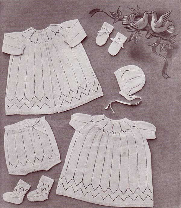 Daydream Baby Layette Free Knitting Patterns With Updated Yarn Info