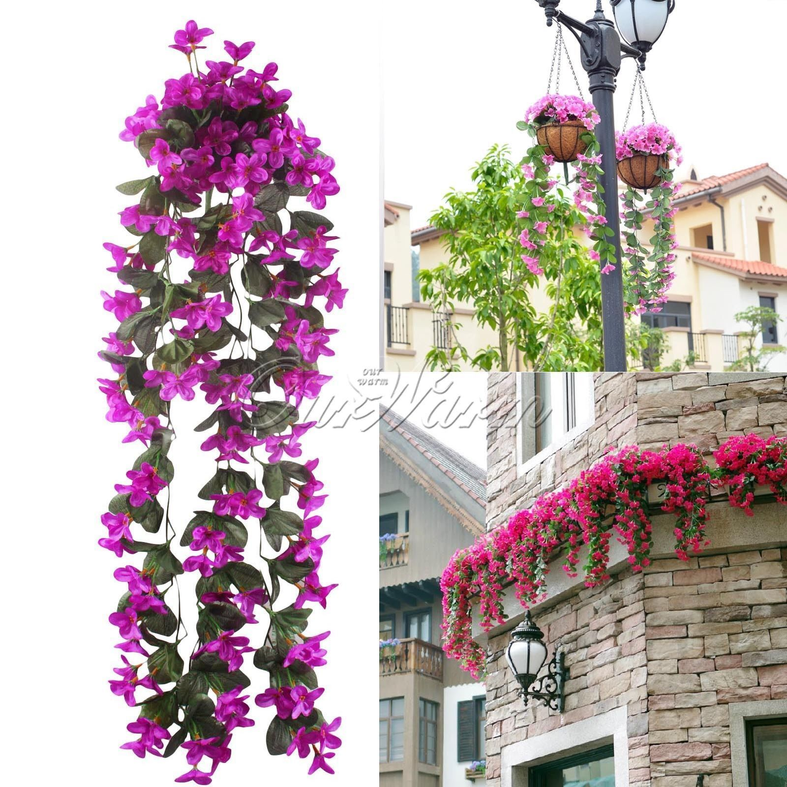 Artificial fake orchid flower ivy vine hanging garland wedding